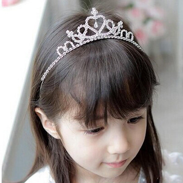 1 PC Vogue Lovely Girls Princess Bridal Crown Crystal Diamond Tiara Hoop Headband Hair Band Accessories-Girls Clothing-Enso Store-Enso Store