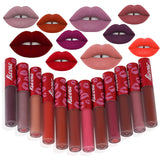 1 piece Waterproof Lipstick Long Lasting Matte Liquid Lipstick Lip Gloss Lip Cosmetics Makeup For Women 12 Colors - EnsoStore