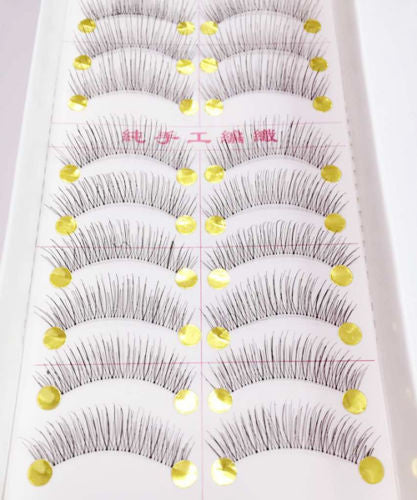 10 Pairs New False Eyelashes Handmade Black Long Thick Natural Fake Eye Lashes Extension Makeup Beauty Tools - EnsoStore