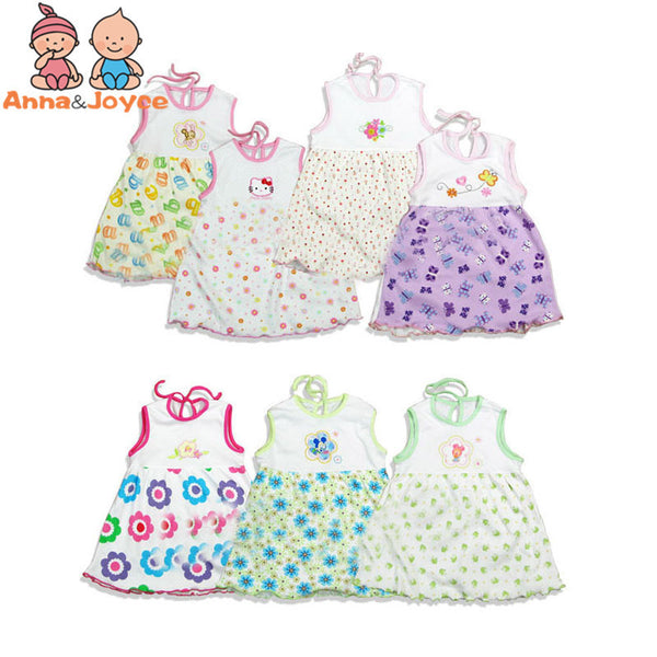 10 Pcs/lot 2017 Branded Baby Dress Baby Girls Dress,super Soft 100% Cotton-Baby Girls Clothing-Enso Store-19-24 months-Enso Store