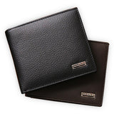 100% genuine leather mens wallet premium product real cowhide wallets for man short black walet portefeuille homme - EnsoStore