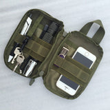 1000D Nylon Tactical Bag Outdoor Molle Military Waist Fanny Pack Mobile Phone Case Key Mini Tools Pouch Sport Bag - EnsoStore