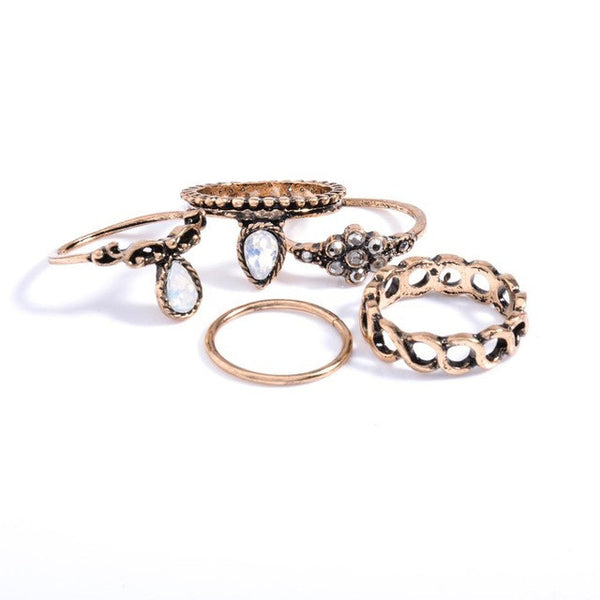 10pcs/Set Anel Midi Finger Ring Set Fashion Punk Gold Silver Knuckle Rings for Women Female Boho Jewelry Vintage Bague Femme - EnsoStore