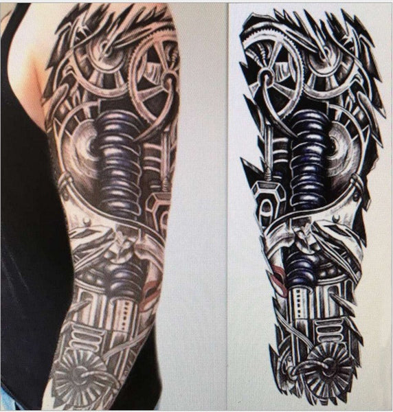 15*45cm Robot Arm Large Temporary Tattoos Mechanical Patten Fake Tattoo Stickers Waterproof Men Art Tattoos sex products - EnsoStore