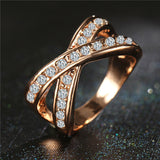17KM Fashion Austrian Crystal Gold Color Silver Color Ring anelli bague Engagement anillos anel Rings for Women Gift Wedding-Wedding & Engagement-Enso Store-6-Royal Blue-Enso Store
