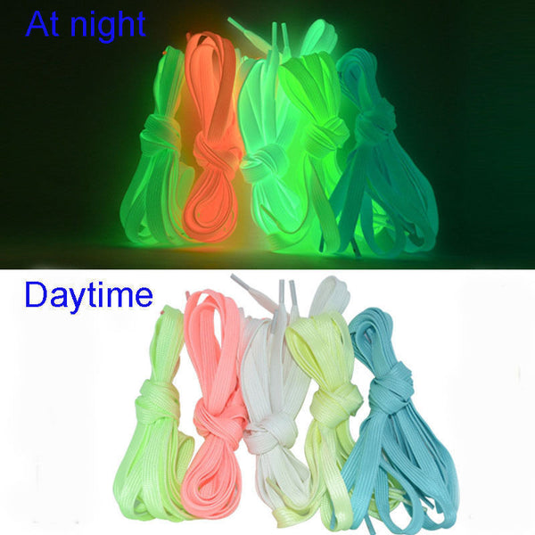 1pair 120cm Sport Luminous Shoelace Glow In The Dark Night Color Fluorescent Shoelace Athletic Sport Flat Shoe Laces Hot Selling - EnsoStore