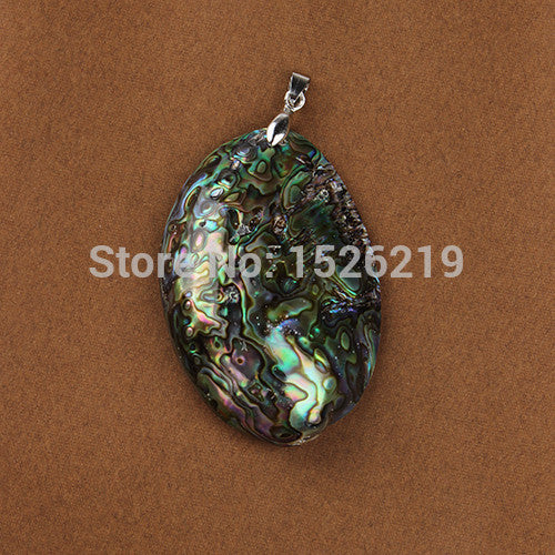 1pc Only 60x39mm New Zealand Natural Abalone Shell Pendant Charms Flatback Beads for DIY Necklaces Jewelry Findings Making - EnsoStore