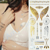 1Pcs Body Paint makeup gold tattoo flash tattoos temporary tattoo makeup metalic tatto body bronzer maquillaje face paint - EnsoStore