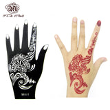 1pcs Henna Hand Tattoo Stencil,Flower Glitter Airbrush Mehndi Henna Tattoo Large Templates Stencils For Body Paint 20*10.5cm - EnsoStore