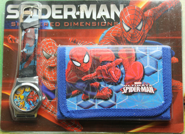 1Pcs Spiderman watches and wallet watches many styles set the packet-Children's Watches-Enso Store-Enso Store