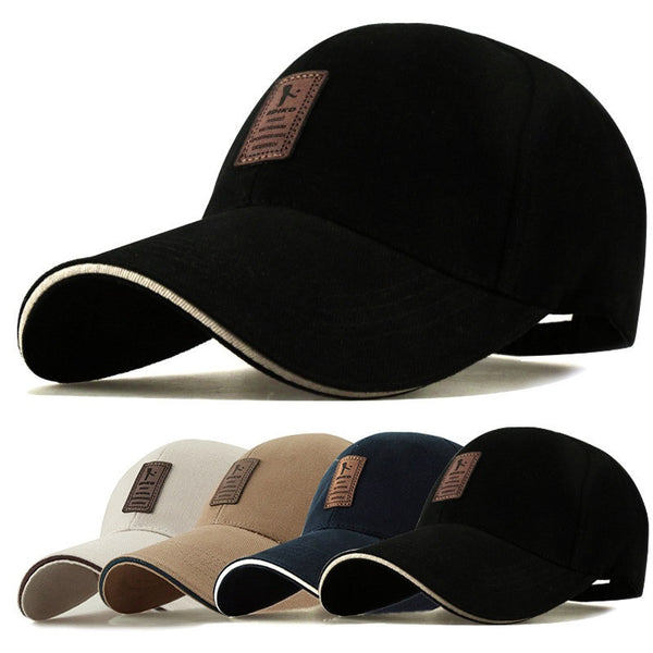 1Piece Baseball Cap Men's Adjustable Cap Casual leisure hats Solid Color Fashion Snapback Summer Fall hat - EnsoStore