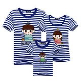 1piece New Fashion Family Matching Outfits T-shirt For mother father Baby Family fitted short-sleeved Navy Stripped Family Shirt-Family Matching Outfits-Enso Store-as chart 3-Mom S-Enso Store