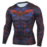 2015 New Fitness MMA Compression Shirt Men Anime Bodybuilding Long Sleeve 3D T Shirt Crossfit Tops Shirts - EnsoStore