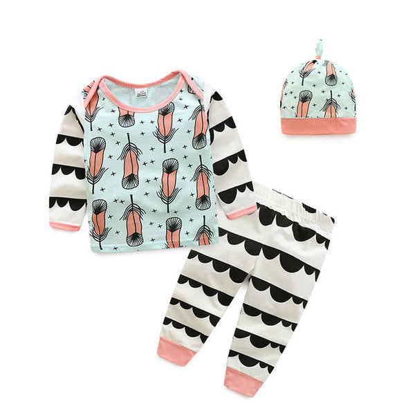 2016 autumn baby boy girl clothes cartoon little bear Long sleeve Top + pants 2pcs sport suit baby clothing sets newborn clothin - EnsoStore