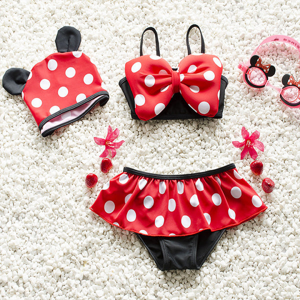 2016 Baby Swimwear Lovely Minnie Mouse Baby Kids Girls Bikini Swimsuit New Summer Two Pieces Biquini Infantil Hot Sale 1-6Y - EnsoStore