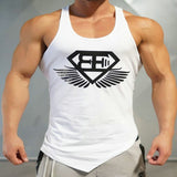 2016 Brand Casual vest men t shirts Summer Cotton Fit Men Tank Tops Clothing Bodybuilding Undershirt Golds Fitness man M-2XL - EnsoStore