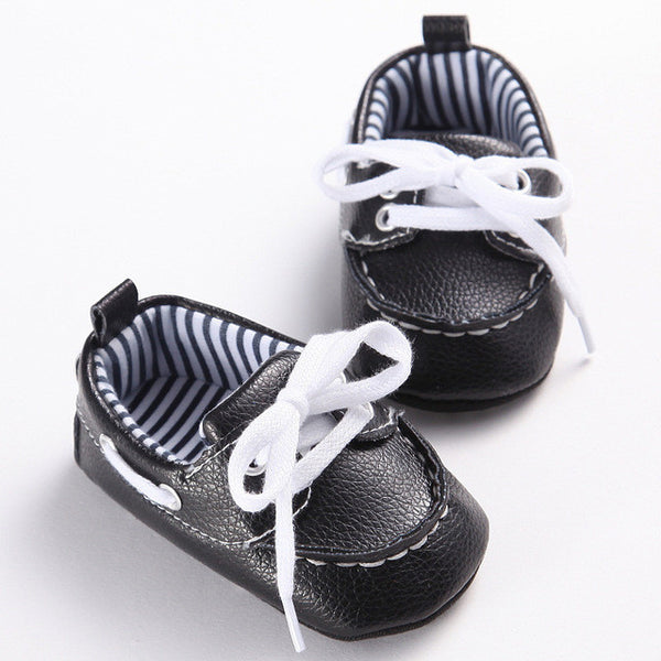 2016 Fashion Classic Leisure Blue Infant Toddler Baby Boy Kid Prewalker PU Leather Shoes Crib Babe Soft Soled Loafer 0-1 Years - EnsoStore
