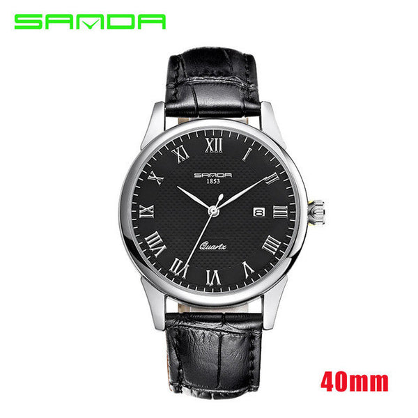 2016 Luxury Men's Watch Fashion Quartz-watch Waterproof Man Watches 2016 Brand Luxury Relojes Hombre Leather Relogios masculinos - EnsoStore