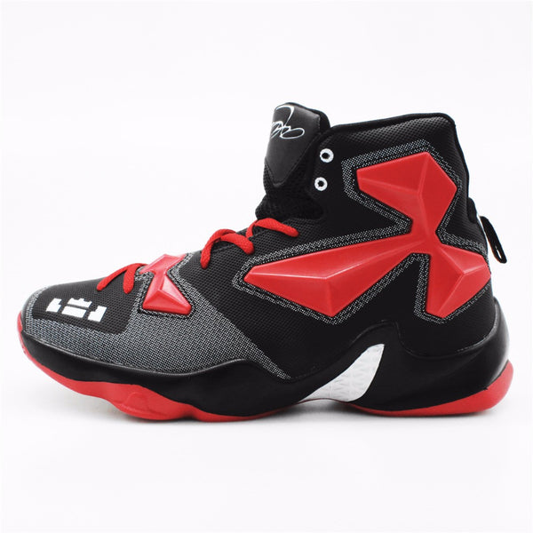 2016 Men's High Quality Sneakers Red Black and White Basketball Boots Indoor Basketball Shoes #FBS2000R - EnsoStore