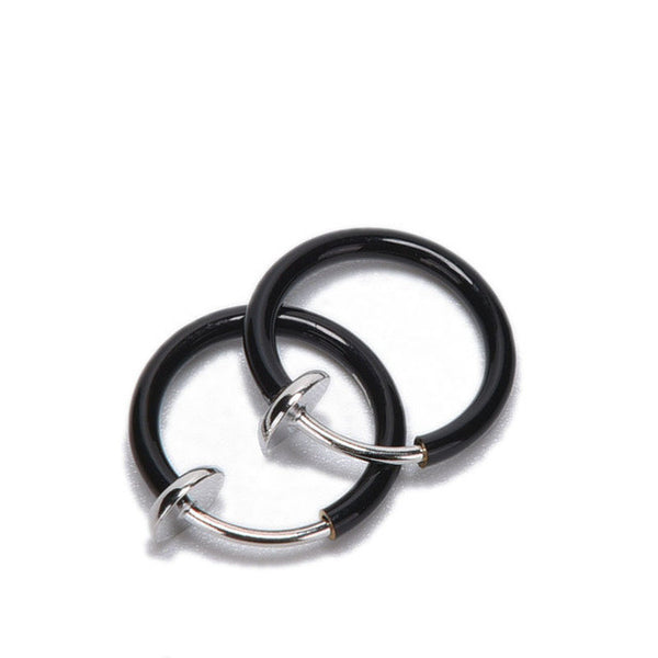 2016 New 2 PCS Clip on Boby Nose Lip Ear Fake Piercing Rings Stud Punk Goth False Hoop Earrings Septum 6 Colors - EnsoStore