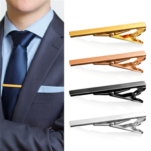 2016 New  4 PCS 1 Set Tie Clips For Men High Quality Gold Color Brand Tie Clip For Business Mixed Lot 4TC1982 - EnsoStore