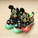 2016 New European fashion cute LED lighting children shoes hot sales Lovely kids sneakers high quality cool boy girls boots-Children's Shoe-Enso Store-liangdian hei-5.5-Enso Store