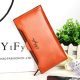 2016 new leather Women Wallet Portable Multifunction Long Wallets,hot female Change Purse,lady coin purses card holder carteras-Women's Wallets-Enso Store-light brown-Enso Store