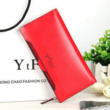 2016 new leather Women Wallet Portable Multifunction Long Wallets,hot female Change Purse,lady coin purses card holder carteras-Women's Wallets-Enso Store-red-Enso Store