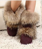 2016 New Raccoon Fur Women's Winter Snow Boots Genuine Leather Boots Ugs Australia Boots Women-Women's Boots-Enso Store-Coffee-6-Enso Store