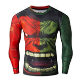 2016New Fashion Fitness Compression Shirt Men Cosplay Male Crossfit Plus Size Bodybuilding Men T shirt 3D Printed Superman Top - EnsoStore