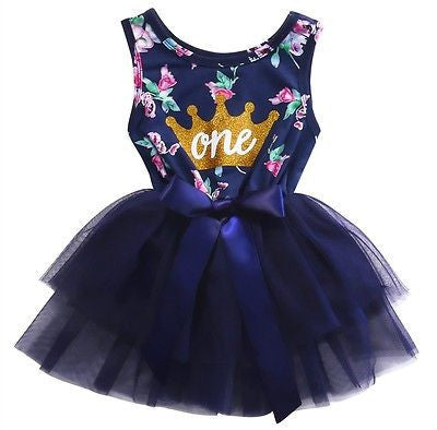 2017 Cute Baby Girls Dress Summer Sleeveless Ruffle Bowknot Tulle Party Tutu Mini Dress Sundress Fashion Baby Girl Clothes-Baby Girls Clothing-Enso Store-4-6 months-Enso Store