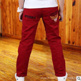 2017 Fashion Spring & Autumn Letter Kids Boys Pants Casual Cotton Mid Elastic Waist Pencil Pants for Boys Children Trouser Ds175 - EnsoStore