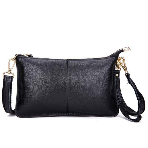 2017 Genuine Leather Women Clutch Bags Cowhide Envelope Organizer Purse Evening Party Handbags Ladies Small Shoulder Beautician - EnsoStore