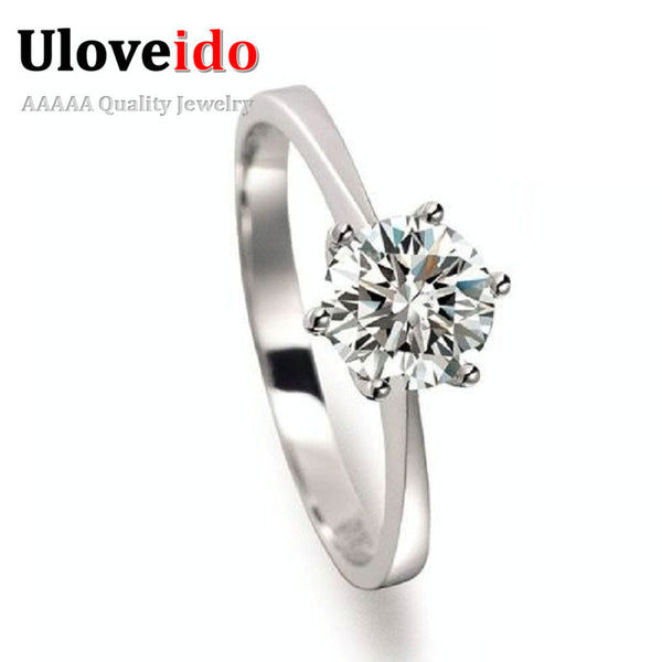 2017 Girl Gift Silver Cubic Zirconia Ring Fashion Engagement Rings for Women Jewelry for Women Joyas Anillos Anel Feminino J002 - EnsoStore