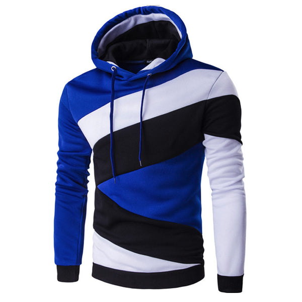 2017 Hoodies Mens Male Hip Hop Male Brand Hoodie Color Stitching Sweatshirt  Suit Men Slim Fit Men Hoody XXL E5RV - EnsoStore