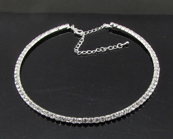 2017 Hot Sale Limited Collier Collares Maxi Necklace Wedding Bridal Jewelry 1 2 3 4 5 Row Crystal Rhinestone Choker Necklaces-Necklaces & Pendants-Enso Store-1row silver-Enso Store