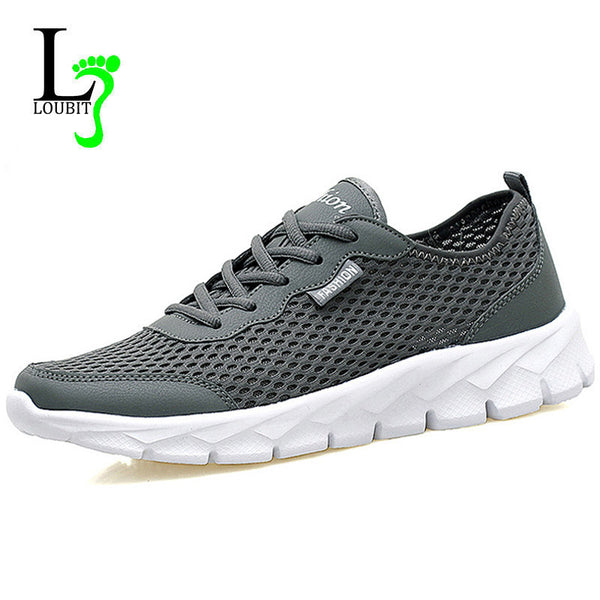 2017 Men Casual Shoes Summer Fashion Breathable Men Shoes Lace Up Gray Black Flat Mesh Shoes Plus Size 35-48-Men's Casual Shoes-Enso Store-058 black-4.5-Enso Store