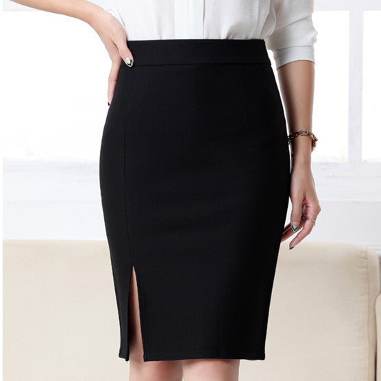 2017 New Arrival Fashion Women Formal Work Wear Skirts Ladies Sexy High Waist Mini Pencil Skirt 3 Colors Plus Size Bottom 5602-Women's Bottoms-Enso Store-Black-S-Enso Store