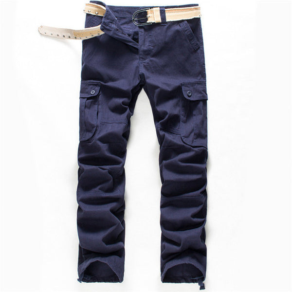 2017 New Arrival High Quality Spring Style Top Fashion Clothing Solid Mens Cargo Pants Cotton Men Trousers Joggers Plus Size-Men's Pants-Enso Store-Navy-29-Enso Store
