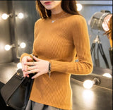 2017 New Autumn winter Fashion sweaters high elastic sexy slim Warm tight Bottoming sweater women elegant Knitted Pullovers-Enso Store-see chart 4-One Size-Enso Store