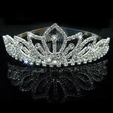 2017 New Fashion Princess Bride rhinestone crystal tiara crown wedding accessories-Jewelry Sets & More-Enso Store-1-Enso Store