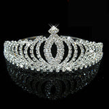 2017 New Fashion Princess Bride rhinestone crystal tiara crown wedding accessories-Jewelry Sets & More-Enso Store-2-Enso Store