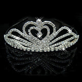 2017 New Fashion Princess Bride rhinestone crystal tiara crown wedding accessories-Jewelry Sets & More-Enso Store-4-Enso Store