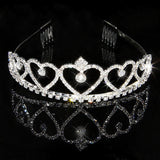 2017 New Fashion Princess Bride rhinestone crystal tiara crown wedding accessories-Jewelry Sets & More-Enso Store-8-Enso Store