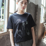 2017 New Fashion T-shirt Women BOY BYE Letter Printing T Shirt Women Tops Casual Brand Tee Shirt Femme Woman Clothing 62474-Enso Store-62477 black-S-Enso Store