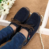 2017 New Fashion Woman Casual Shoes Wild Lace-up Women Flats Warm Comfortable Concise Woman Shoes Breathable Female Shoes aDT90-Women's Shoes-Enso Store-Navy Blue-4.5-Enso Store
