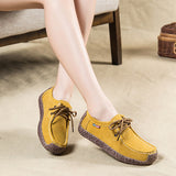 2017 New Fashion Woman Casual Shoes Wild Lace-up Women Flats Warm Comfortable Concise Woman Shoes Breathable Female Shoes aDT90-Women's Shoes-Enso Store-Yellow-4.5-Enso Store