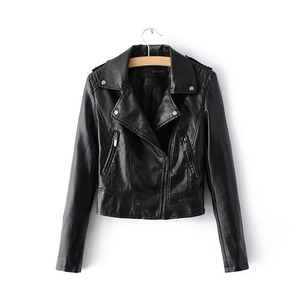 2017 New Fashion Women Motorcycle Faux Soft Leather Jackets Female Winter Autumn Brown Black Coat Outwear Hot Sale-Enso Store-1603Black-S-Enso Store