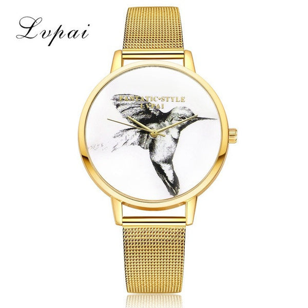 2017 New Gold Bird Women Bracelet Watch LVPAI Famous Brand Quartz WristWatches Women Fashion Luxury Watch Gift Clock LP054-Women's Bracelet Watches-Enso Store-Gold-Enso Store