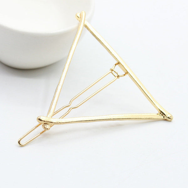 2017 New Hairpins Triangle Moon Hair Pin Jewelry Lip Round Hair Clip For Women Barrettes Head Accessories Bijoux De TeteHeadwear-Women's Accessories-Enso Store-Triangle Gold 1-Enso Store